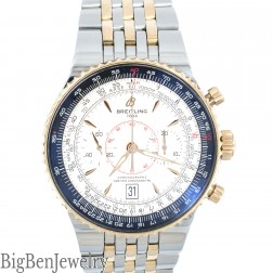 Breitling C23340 Navitimer Montbrillant Legende 18K Stainless Date Chrono Mens Watch