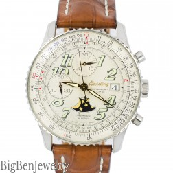 Breitling A43030 Montbrillant Eclipse Ivory Dial Mens Watch