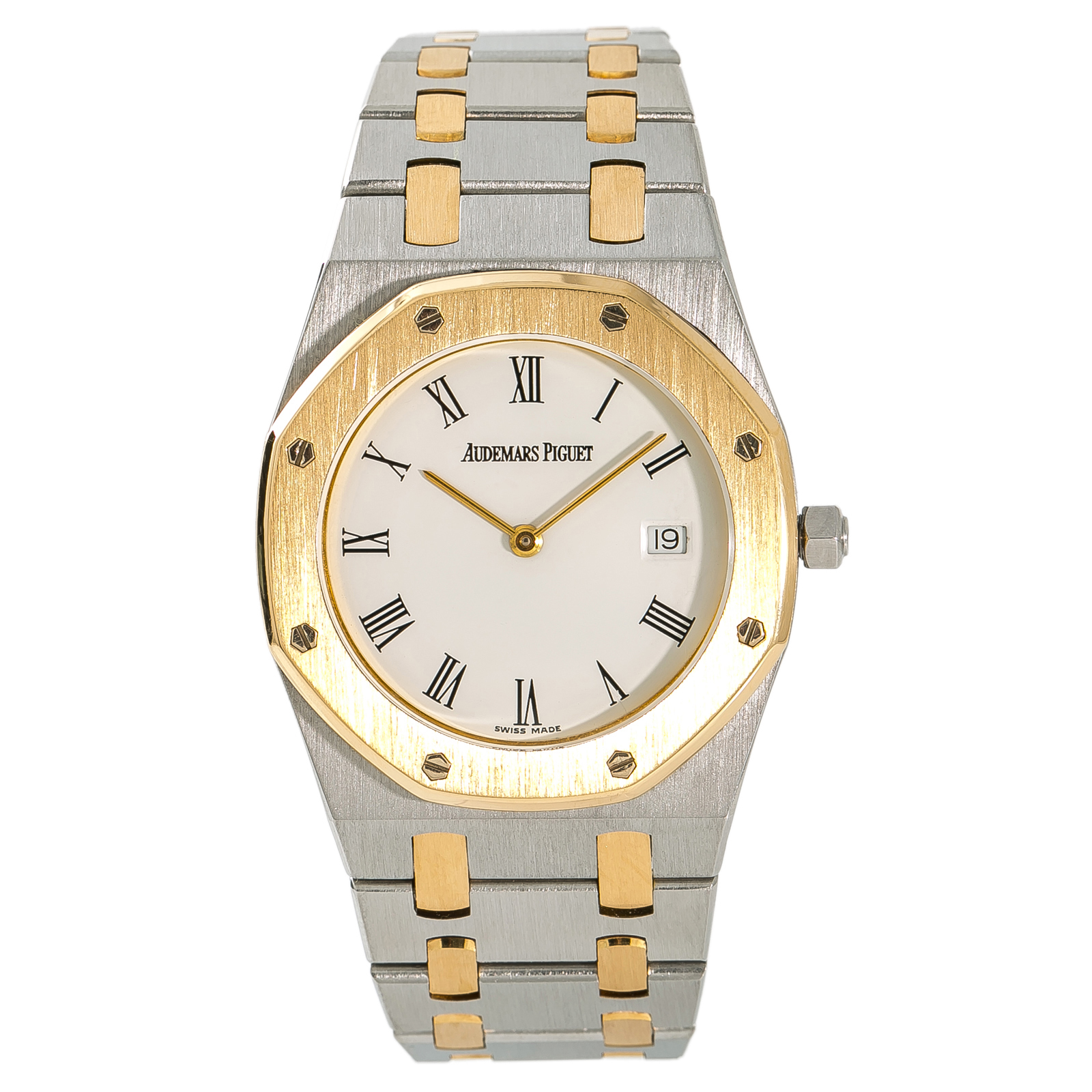 ba3d599ba0e Details about Audemars Piguet Royal Oak Mens Vintage Quartz Watch 18k Two  Tone 33mm