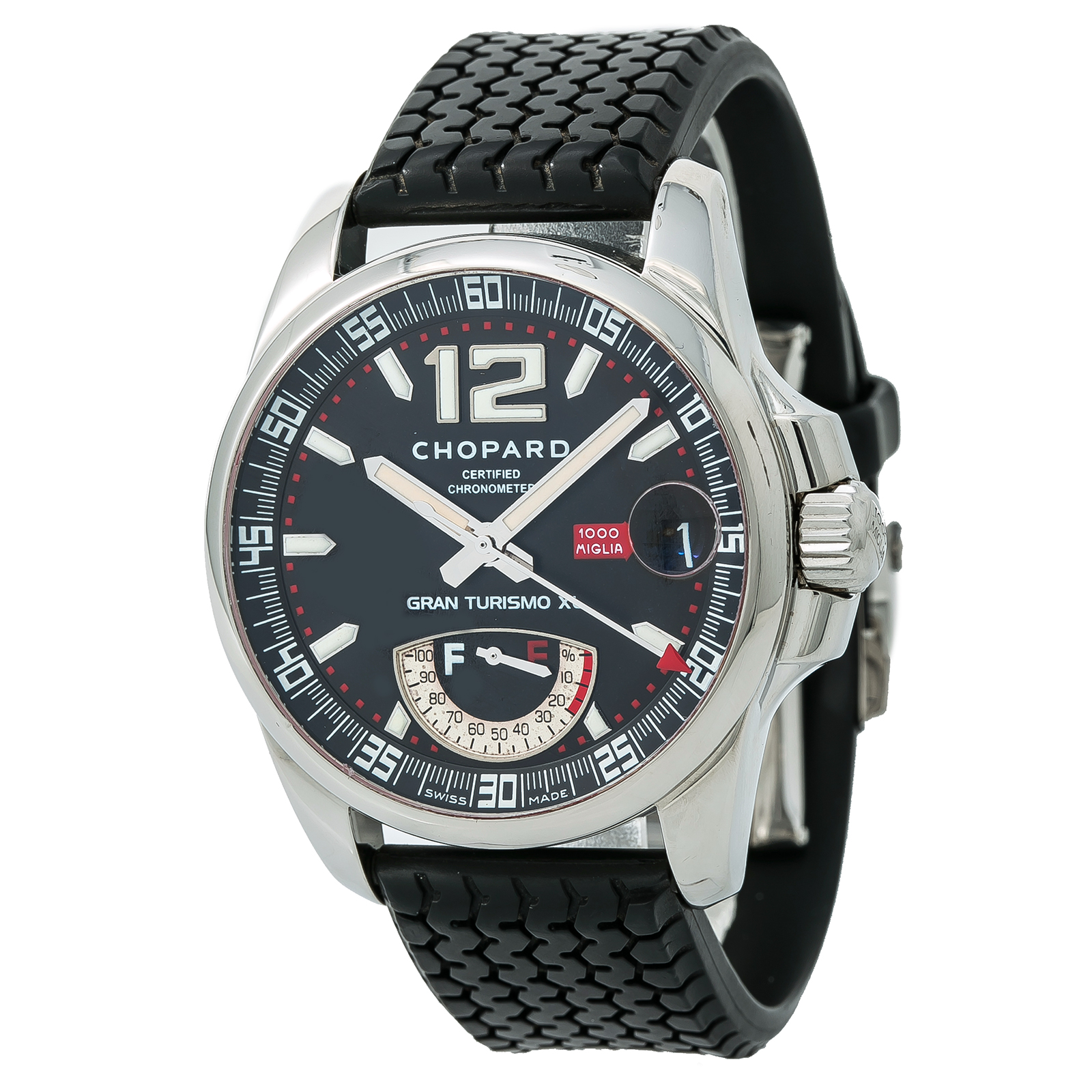 aa7724e14ae Details about Chopard Mille Miglia GT XL 8997 Power Reserve Automatic Watch  Black Dial 44mm