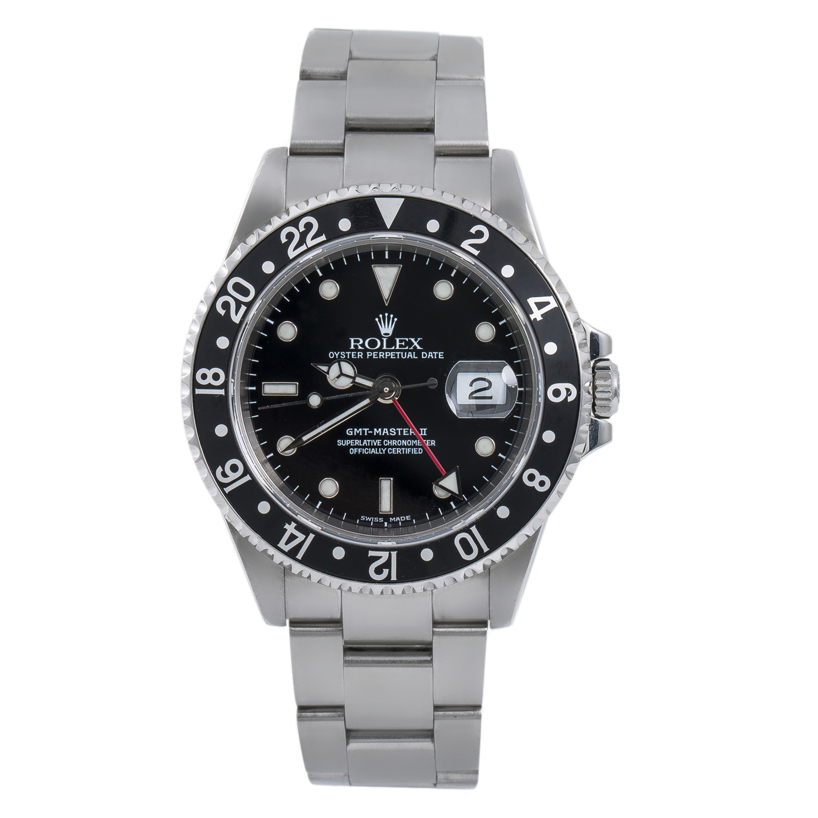Details About Rolex Gmt Master Ii 16710 Black Mens Automatic Watch Stainless Steel 40mm