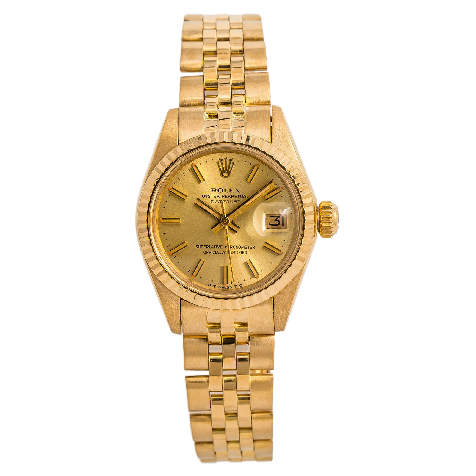 72e35bc9b71 Details about Rolex Datejust 6917 Jubilee Womens Automatic Vintage Watch  18K Yellow Gold 26mm