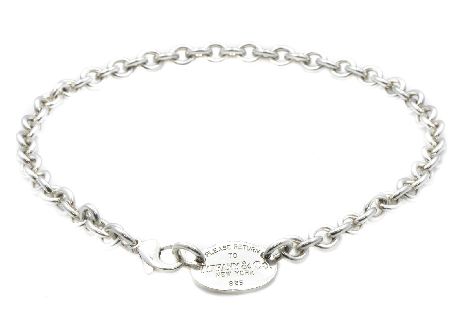 c8c24950c Details about Tiffany & Co. New York 925 Sterling Silver Chain Necklace 14